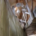 stamplemen muren met houtskelet