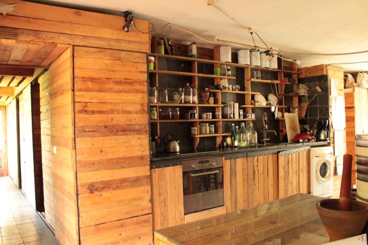 keuken vol levende bokalen