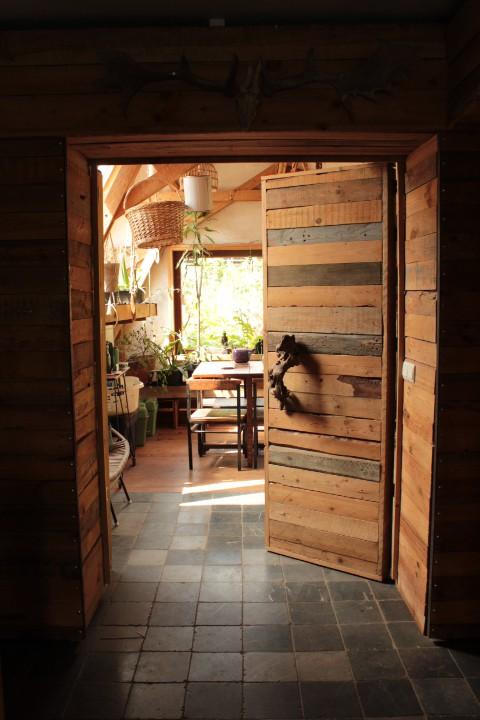 dubbele geïsoleerde deur tussen veranda en keuken