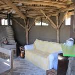 dakstructuur als bladnerven en lemen muren
