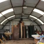 De hangaar, die serre werd.